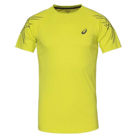 ASICS Stripe Tee shirt manches courtes Homme - Jaune