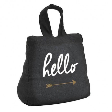TODAY Cale porte GOLD LABEL HELLO 16x18 cm noir et or