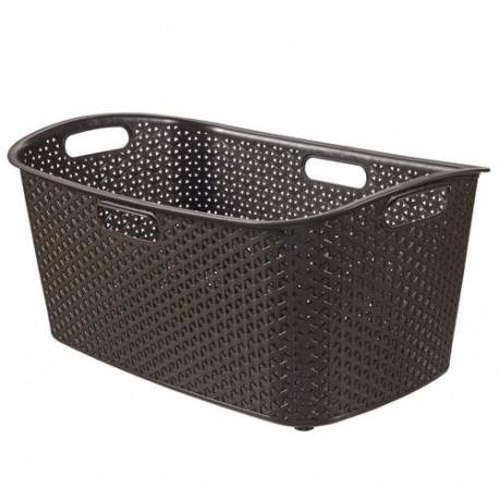 CURVER Panier a linge My style 47 L chocolat
