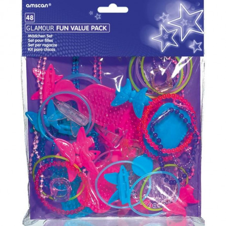 AMSCAN Jouets Glamour assortis - 48 Pieces