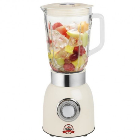 BESTRON ABL850RE Blender - Bol en verre 1,5L - Ivoir