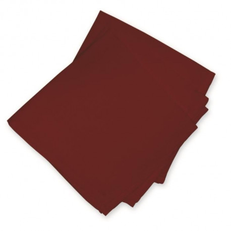 SOLEIL D'OCRE Lot de 3 serviettes de table ALIX Rouge