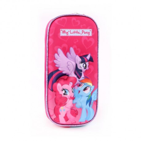 MY LITTLE PONY Trousse 3D Fille - 12cm - Rose