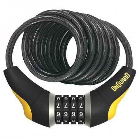 ONGUARD Antivol Vélo cable Doberman Combo - 185 cm X 10 mm