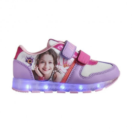DISNEY SOY LUNA Baskets a Led - Enfant fille - Violet lilas