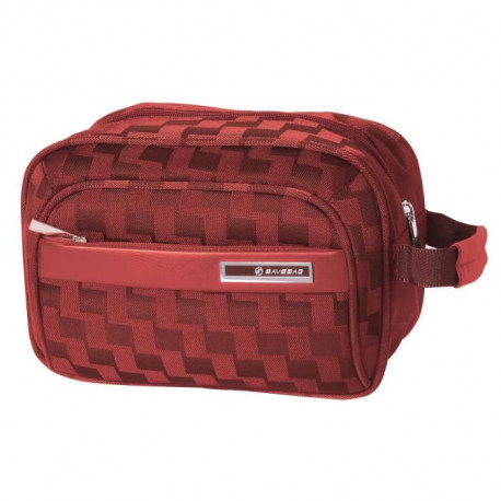 SAVEBAG Trousse de toilette SQUARE jacquard - Rouge