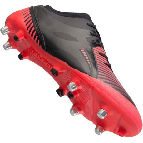 GILBERT Chaussures de Rugby IGNITE FLY - Crampons hybrides - Rouge / Noir