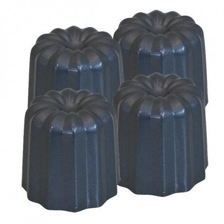 DE BUYER Lot 4 moules a cannelés - ø 5.5 cm