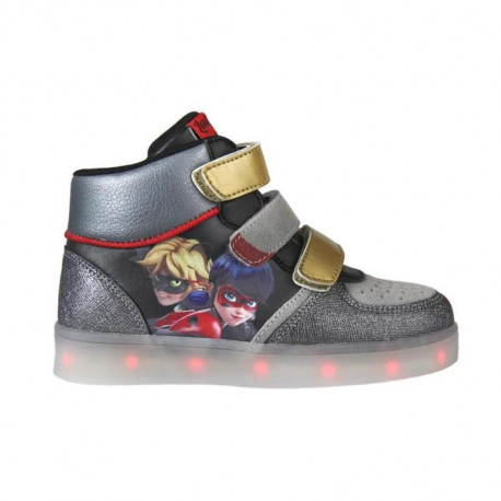 MIRACULOUS LADYBUG Baskets hautes a Led - Enfant mixte - Gris
