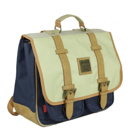 KICKERS Cartable 2 compartiments - Primaire - Mixte - Marine - 38 cm