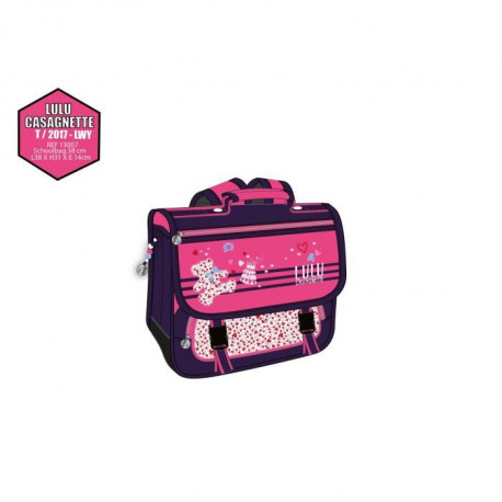 LULU CASTAGNETTE cartable 1 compartiment - Primaire - Fille ? Rose - 38 cm