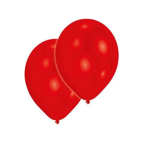 Lot de 10 Ballons - Latex - Rouge