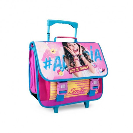SOY LUNA Trolley 2 compartiments - Primaire - Fille - 41 cm - rose
