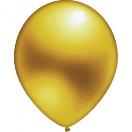 Lot de 10 Ballons - Latex - Or