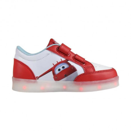 SUPER WINGS Baskets a Led - Enfant garçon - Rouge