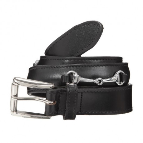 RIDING WORLD Ceinture d'équitation Filet a olives - Noir