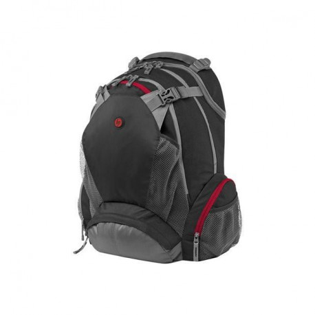 "HP Sac a dos pour ordinateur portable - Full Featured Backpack - 17,3"" - Noir / Gris / Rouge"