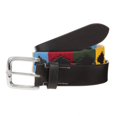 RIDING WORLD Ceinture d'équitation Polo - Noir / Multicolor