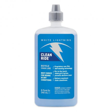 WHITE LIGHTNING Lubrifiant Clean Ride Lube 8Oz - 235ml