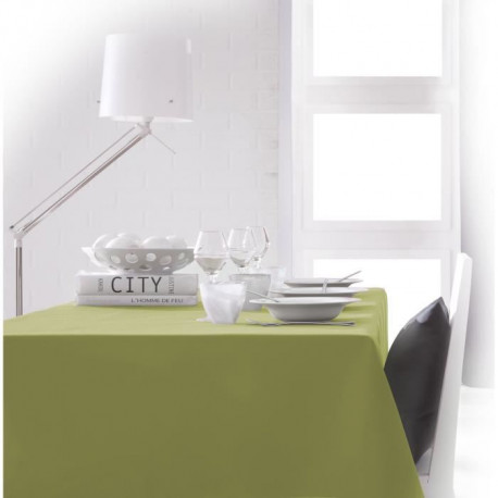 TODAY Nappe rectangulaire 150x250cm - Vert Fougere