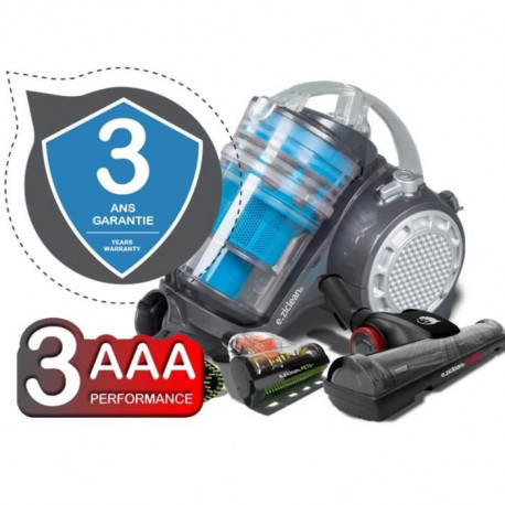 E.ZICLEAN Aspirateur traîneau sans sac TURBO MULTI FLOORS - 900W - 69 dB - A