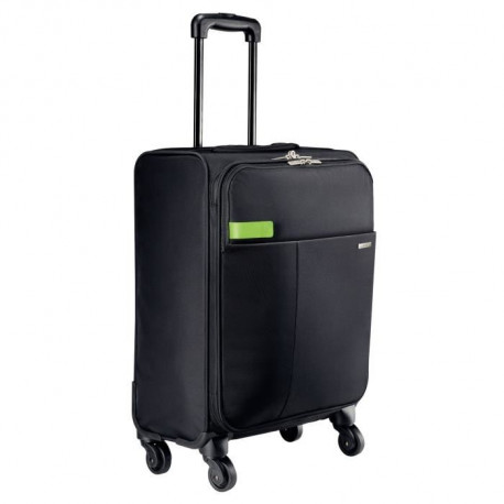 LEITZ Smart Traveller Trolley - Bagage cabine - 4 roues - Noir