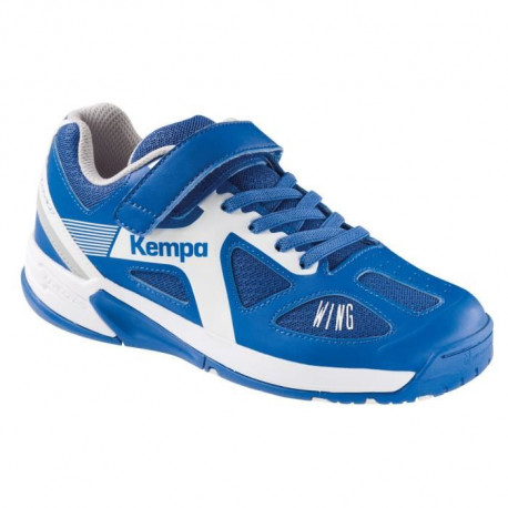 KEMPA Chaussures de Handball Fly High Wing Junior Bleu roi et blanc
