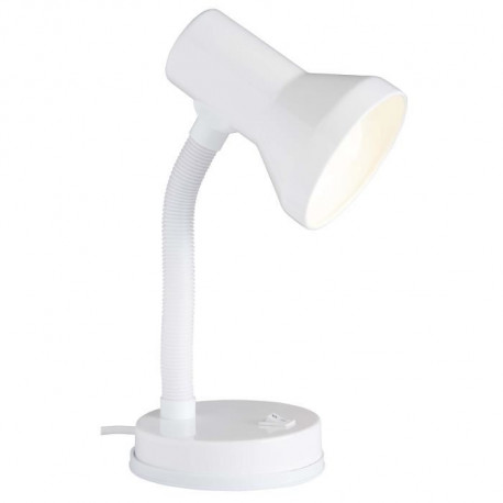 BRILLIANT Lampe de bureau flexible Junior hauteur 30 cm Ø13 cm E27 40W blanc