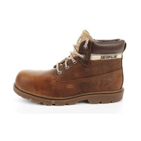 CATERPILLAR Bottines Colorado Plus Cuir Chaussures Enfant Garçon Marron