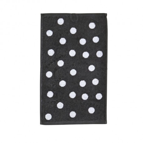 DONE Daily Shapes DOTS Serviette Invité 30x50cm - Anthracite et Blanc
