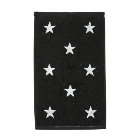 DONE Daily Shapes STARS Serviette Invité 30x50cm - Noir et Blanc