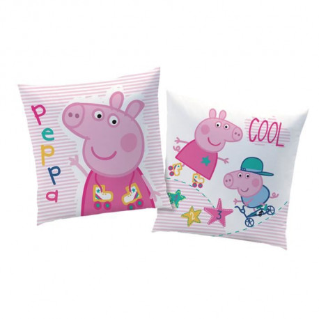 PEPPA PIG RECREATION Coussin carré 40 x 40 cm