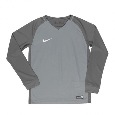 NIKE Maillot Manches longues Trophy III - Enfant - Gris froid