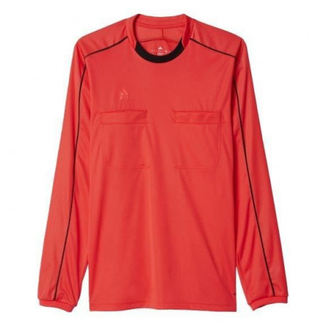 ADIDAS REF16 Maillot Manches Longues - Rouge/Noir