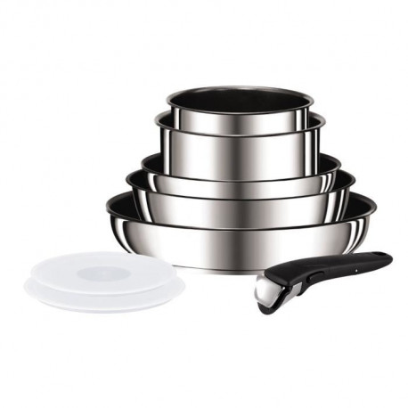 TEFAL INGENIO PREFERENCE Batterie de cuisine 8 pieces L9409802 18-20-22-24-28cm Tous feux dont induction inox