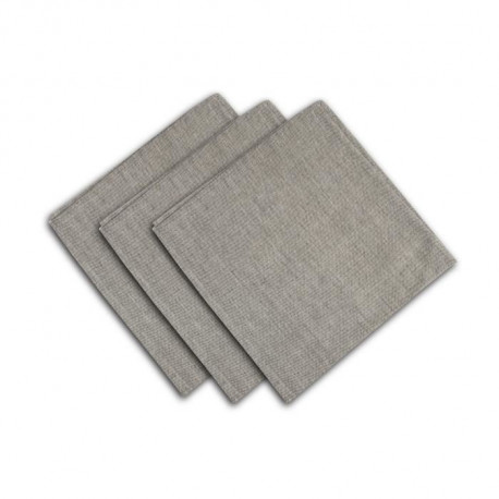 SOLEIL D'OCRE Lot de 3 serviettes de table Baguette - 45x45 cm - Gris et or