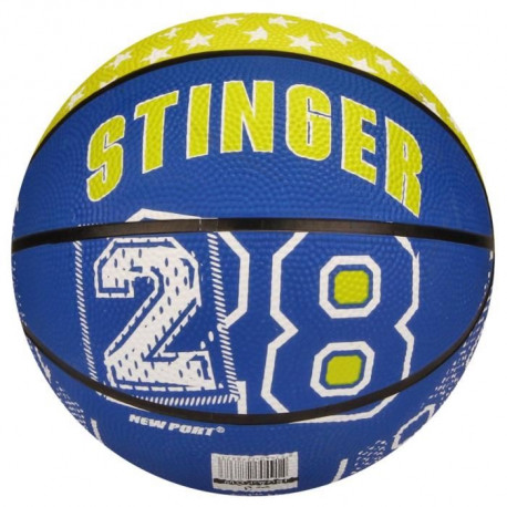 NEW PORT Mini-ballon de basketball - Bleu et jaune