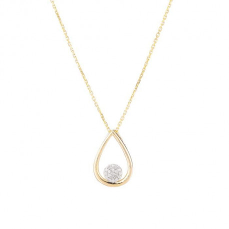 LE DIAMANTAIRE - Collier pendantif Poire Or Jaune 375/1000 Femme