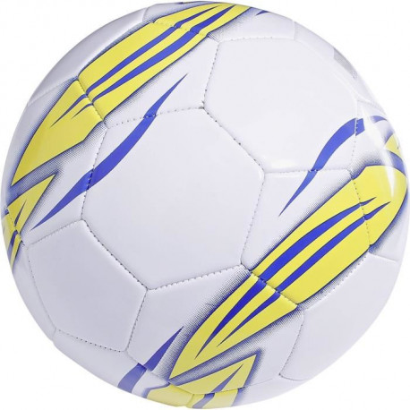 Ballon football Europ ball - Blanc et jaune - Taille 5