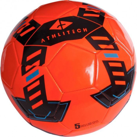 ATHLI-TECH Ballon de football - Rouge - Taille 5