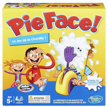 HASBRO GAMING - Pie Face - Le jeu de la chantilly