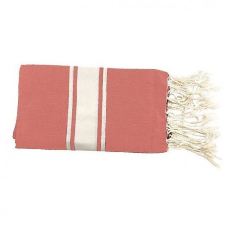 TODAY Fouta de plage 100% coton Hippie Chik - 100x190 cm - Rose papaye