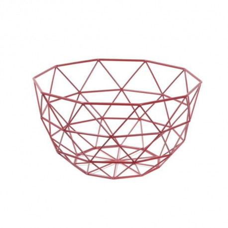 FRANDIS Corbeille a fruits triangles - 26x26x14cm - Rouge mat