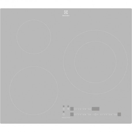ELECTROLUX LIT60342CS-Table de cuisson induction-3 zones-7350 W-L 59 x P 52 cm-Revetement verre-Coloris Silver