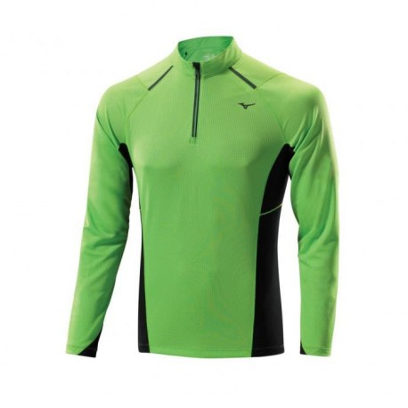 MIZUNO T-shirt Manches Longues Col 1/2 Zip Homme