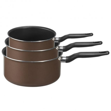 TEFAL EXTRA BROWNIE Set de 3 casseroles B3009502 14-18-20cm Gaz