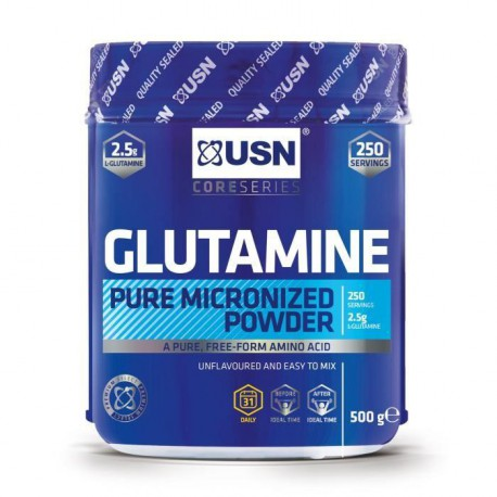USN Acides Aminés Glutamine 500 g NTT