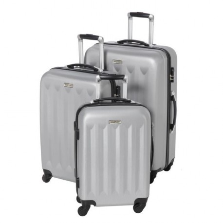 KINSTON Set de 3 valises trolley 4 roues