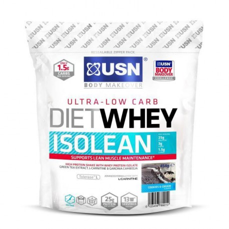 USN Protéine Diet Whey Isolean Cookies et Cream 454 g NTT