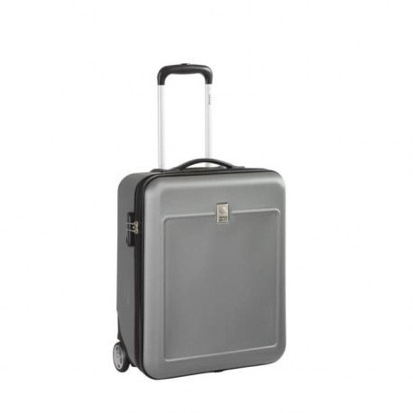 VISA DELSEY Valise Cabine Rigide ABS et Polycarbonate 2 Roues 50 cm EASY FLY Gris